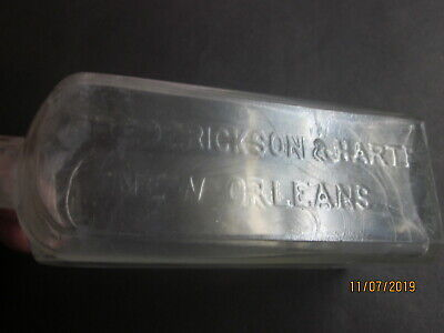 "New Orleans ""Frederickson & Harte"" Antique Drug Store Bottle  1885-90"