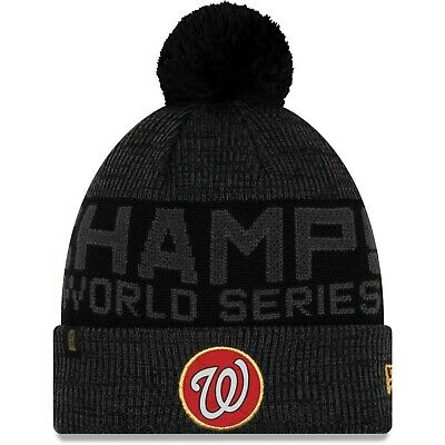 Washington Nationals New Era 2019 World Series Champions Locker Room Knit Hat