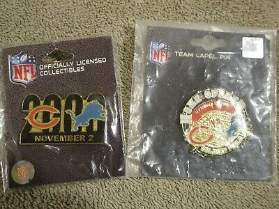 2 Chicago Bears VS Detroit Lions Soldier Field Game Day Pins 9/12/10 11/2/08