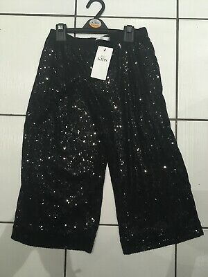 M& S Marks & Spencers Girls Black Sequinned Trousers 11-12