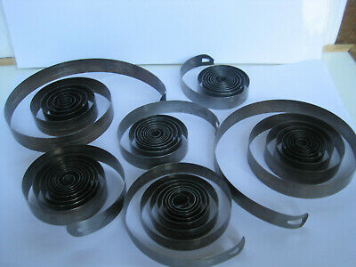 6 Quality mainsprings for Carriage Clocks & French Platform Clocks various sizes