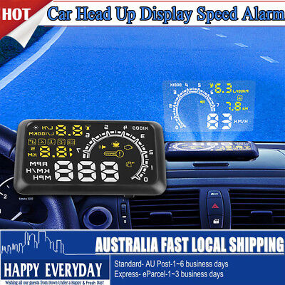 "5.5"" Head Up Car HUD Display OBD2II Speed Over Speed Alarm System fh"