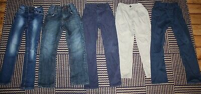 Boys Age 5 - 6 ALL NEXT Jeans / Trousers Bundle - 5 Pairs