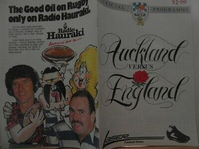 1985 AUCKLAND  V ENGLAND   rugby union programme