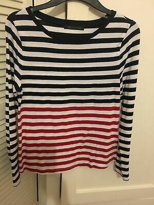 Marks & Spencer Girls / womens Long sleeved Striped M&S Top Size 10
