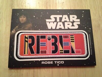 Star Wars Journey to The Rise of Skywalker Jumbo Patch Card Rose Tico