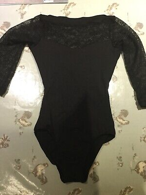 Ladies Teen Long / Cropped Sleeve Floral Lace Dance Leotard size XS by So Danca