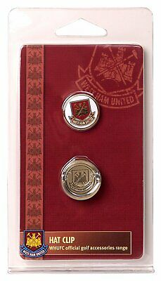 West Ham United F.C Hat Cap Clip And Golf Ball Marker - New Official Merchandise