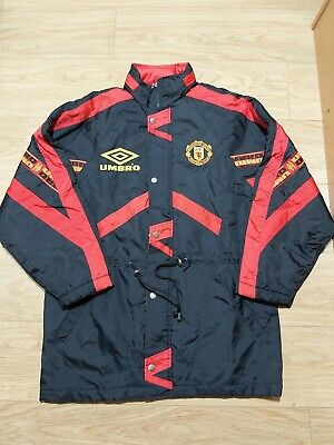Vintage Umbro Manchester United Sharp Football Club  Men's Insulated Jacket .(M)