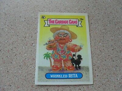 The Garbage Gang series 2 (AUS series) 78A WRINKLED RITA ( puzzle back)