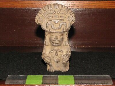 Pre Columbian, Pottery, Meso American Z., Toltec, Choice Funerary Urn, +900 1200