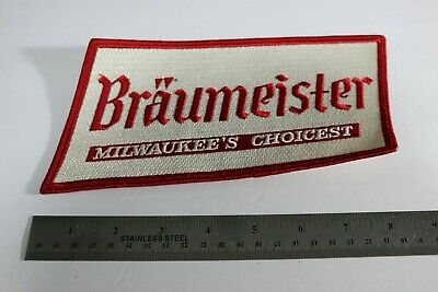 RARE, VINTAGE large back patch BRAUMEISTER beer from 1960's distributor UN-SEWN