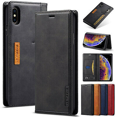 For iPhone XS Max XR 8+ 7 6s Plus Cover Luxury Leather Wallet Flip Stand Case