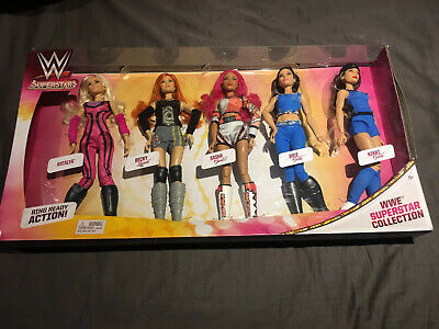 WWE Superstars Collection Fashion Dolls, 5 pack