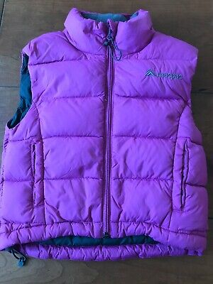 Macpac Sz2 Purple Down Vest EUC Kids Child