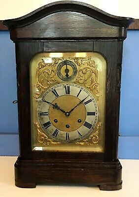 Antique Gustav Becker Westminster Chimes German Mantel Bracket Clock Serviced