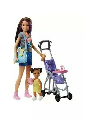 Barbie Stroller Buggy Pushchair Skippers Babysitter Interactive Learning Playset
