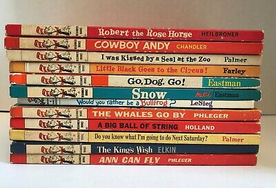 Dr. Seuss Beginner Books I Can Read Lot of 12 HC ~ Rare Cowboy Andy Ann Can Fly
