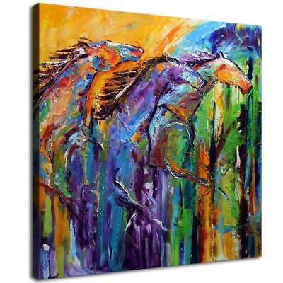 "12""x12""Abstract horse Photos HD Canvas prints Painting Home decor Room Wall art"