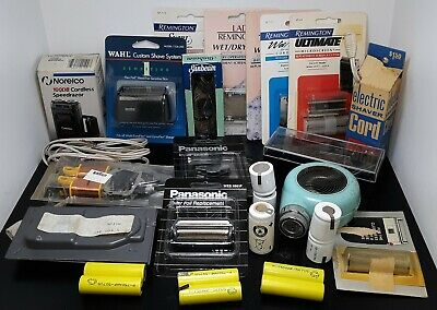 MIXED Lot of New / Used Vintage Model Electric Shaver Parts Attachments