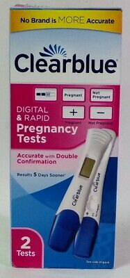 Clearblue Pregnancy Test 2ct - 1 Digital and 1 Rapid Test Exp 04/21