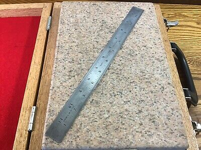 "Starrett 12"" Shrink Rule / Scale No. 375 Tempered Tool - Patternmaker Woodwork"
