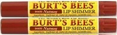 TWO (2) New & Sealed Burts Bee Lip Shimmers NUTMEG: Discontinued