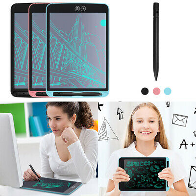 12inch LCD eWriter Eraser Board Writing Message Pad Kids Painting Drawing Tablet