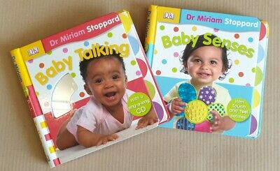 Set 2 Books: Baby Talking & Baby Senses by Dr Miriam Stoppard