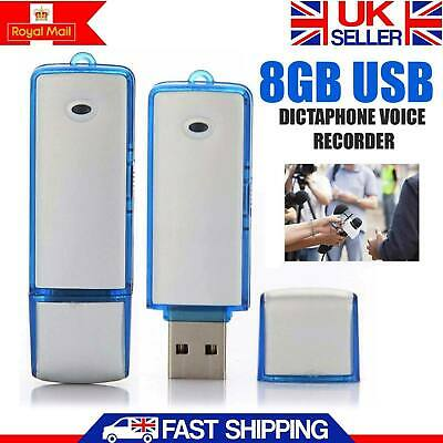 2in1 8GB Digital Voice Recorder Dictaphone & USB Flash Drive Memory Stick New UK