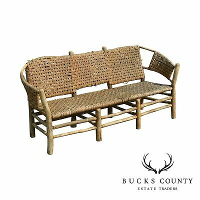 Old Hickory Antique Rustic 3 Seat Settee