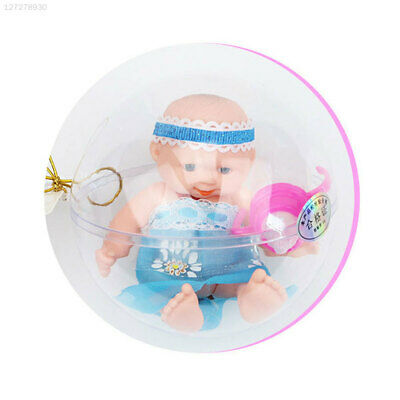 Mini Palm Doll Ball Transparent Plastic Ball Simulation Pocket Doll Collection