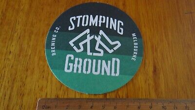 1 x STOMPING GROUND BREWERY MELBOURNE AUSTRALIA COLLECTABLE BEER COASTER