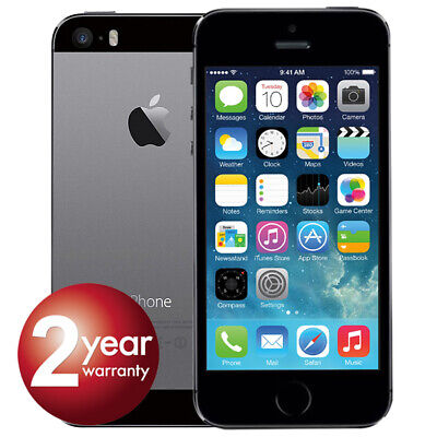 New Apple iPhone 5s 16GB Space Grey 2 Year Warranty Unlocked SIM Free Smartphone