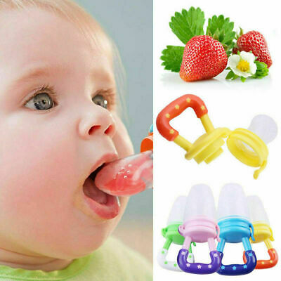 Baby Dummy Feeding Nibbles Weaning Nutrition Pacifier Fresh Fruit Food Feeder UK