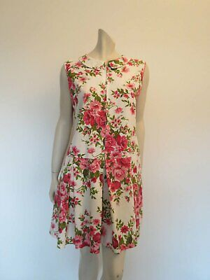Pink Floral Zip Front Culottes or Divided Dress - Bust 99 cm