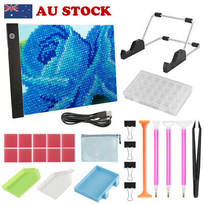 27 in 1 5D Diamond Painting Tools DIY Art Craft LED Pad Light Board With Stand
