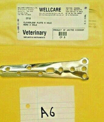 Cloverleaf Plate 8 Hole Head 3 Hole  , Orthopedic,  Veterinary Instruments Ce
