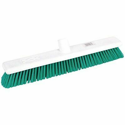 Jantex Hygiene Broom Soft Bristle Green 18In Cleaning Equipment Supplies