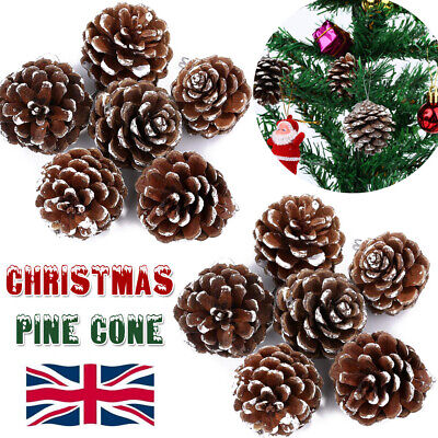 50/70/90PCS X Christmas Pine cones Natural Pinecone's Xmas Tree Hanging Ornament