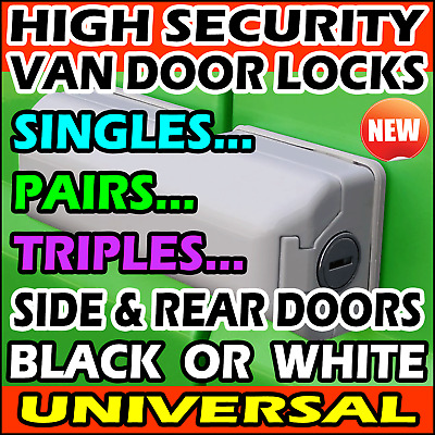 Heavy Duty Van Security Door Dead Locks Hasp For Rear Doors & Sliding Side Doors