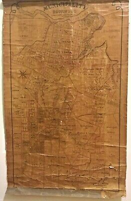 Antique 19th Century Municipality Of Rookwood Government Council Map Sydney Aus
