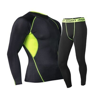 Men Thermal Underwear Set Thermo Long Johns Winter Warm Quick Dry Compression