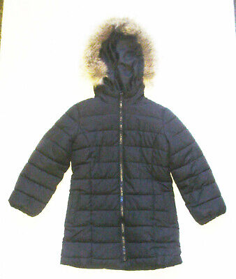 Girls Black Padded Coat with Hood by Gap Kids Age 4 - 5 Years