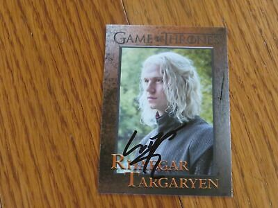 Harry Lloyd Autograph Signed Hand Game of Thrones Card