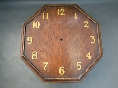 Large vintage empty wooden oak wall clock case Smiths Sectric - for restoration