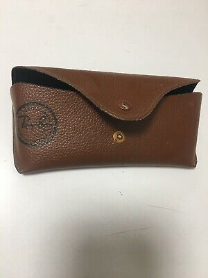 Vintage Brown Leather Ray Ban Sunglasses Hard Case