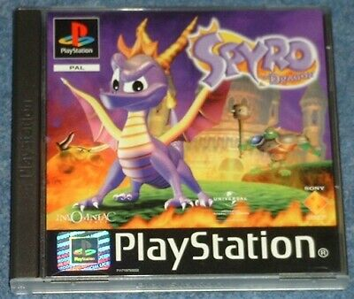 SPYRO 1 & 3 YEAR OF THE DRAGON - Playstation PS1 - Black Label Picture Discs