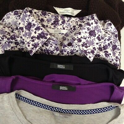 HUGE M&S Tops Bundle UK Size 12 Marks and Spencer TShirts Blouse Cardigan VGC
