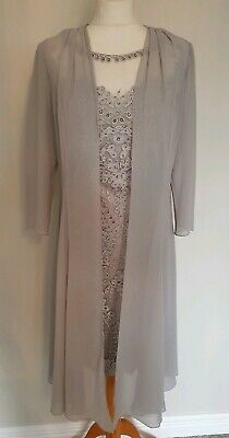 Silver Veni Infantino Mother Of The Bride/special Occasion Outfit Size:8